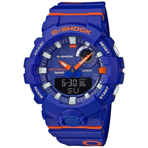 Casio G-Shock G-SQUAD Bluetooth® Dagger Basketball Themed Series Blue Resin Band Watch GBA800DG-2A GBA-800DG-2A