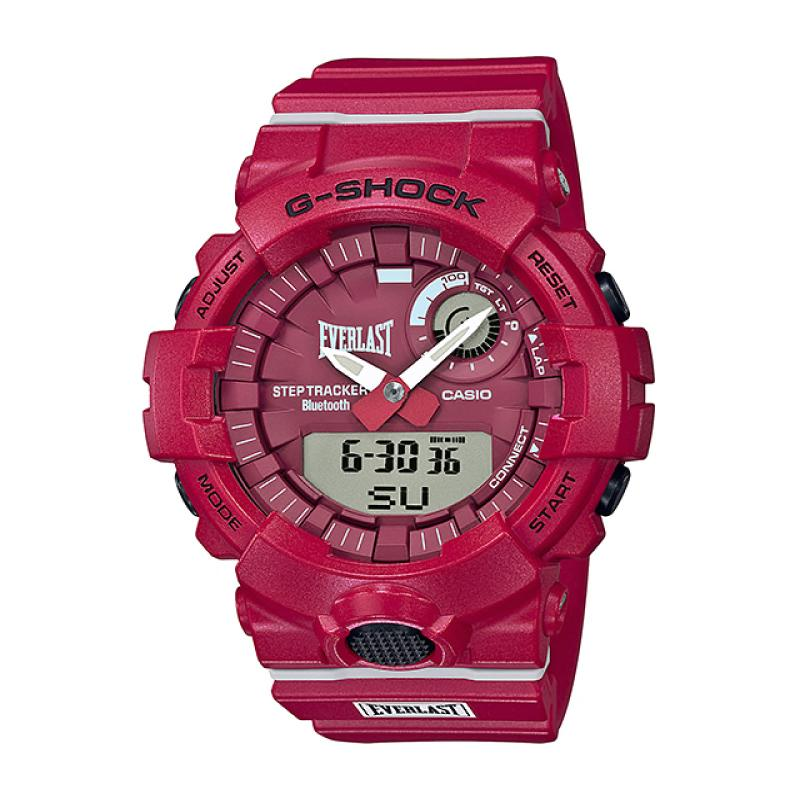Casio G-Shock Everlast Collaboration Limited Model Red Resin Band Watch GBA800EL-4A GBA-800EL-4A