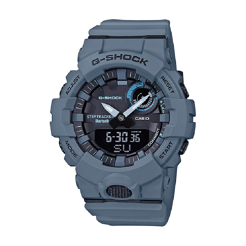 Casio G-Shock G-SQUAD Bluetooth® Utility Colors Collection Matte Blue Resin Band Watch GBA800UC-2A GBA-800UC-2A