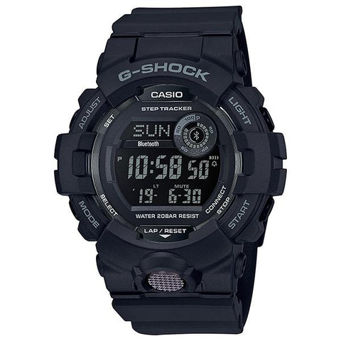 Casio G-Shock G-SQUAD Bluetooth® GBD-800 Series Black Resin Band Watch GBD800-1B GBD-800-1B