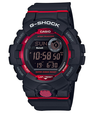 Casio G-Shock G-SQUAD Bluetooth® GBD-800 Series Black Resin Band Watch GBD800-1D GBD-800-1D GBD-800-1