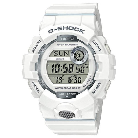 Casio G-Shock G-SQUAD Bluetooth® GBD-800 Series White Resin Band Watch GBD800-7D GBD-800-7D GBD-800-7