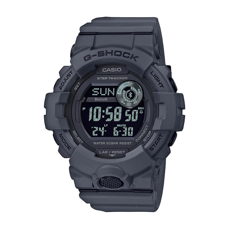 Casio G-Shock G-SQUAD Bluetooth® Utility Colors Collection Matte Grey Resin Band Watch GBD800UC-8D GBD-800UC-8D GBD-800UC-8