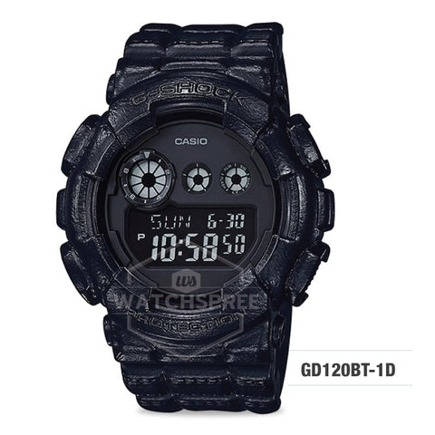 Casio G-Shock Standard Digital Black Resin Band Watch GD120BT-1D GD-120BT-1D