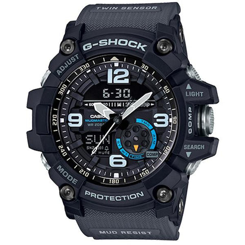 Casio G-Shock Master of G Mudmaster Series Dark Grey Resin Strap Watch GG1000-1A8 GG-1000-1A8