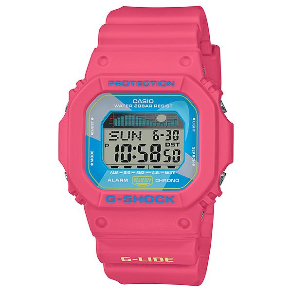 Casio G-Shock Glide GLX-5600 Lineup Pink Resin Band Watch GLX5600VH-4D GLX-5600VH-4D GLX-5600VH-4
