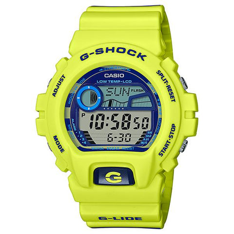 Casio G-Shock Glide GLX-6900 Lineup Striped Pattern Printed Resin Band Watch GLX6900SS-9D GLX-6900SS-9D GLX-6900SS-9