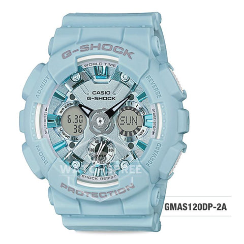 Casio G-Shock S Series Pastel-tone Matte Blue Resin Band Watch GMAS120DP-2A GMA-S120DP-2A