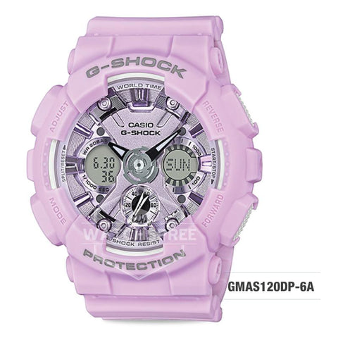 Casio G-Shock S Series Pastel-tone Matte Purple Resin Band Watch GMAS120DP-6A GMA-S120DP-6A