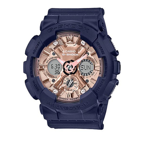 Casio G-Shock S Series GMA-120 Blue Resin Band Watch GMAS120MF-2A2 GMA-S120MF-2A2
