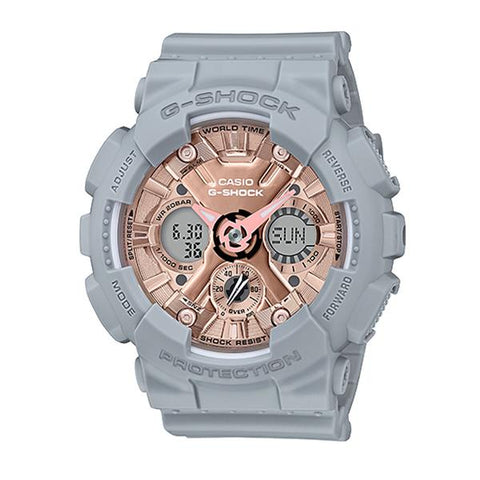 Casio G-Shock S Series GMA-120 Grey Resin Band Watch GMAS120MF-8A GMA-S120MF-8A