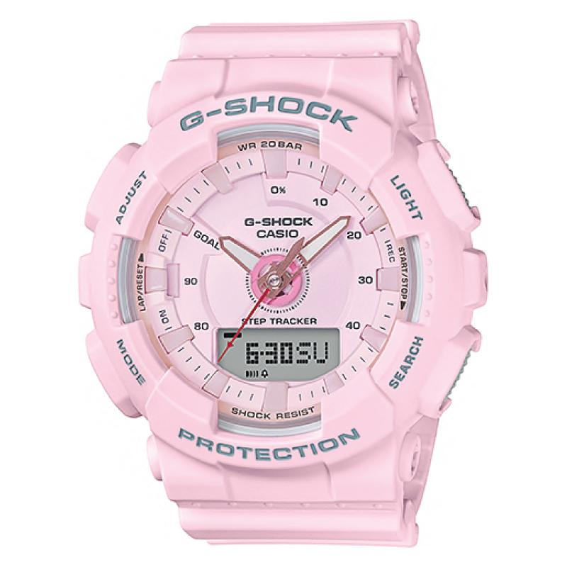 1efd94b331bc Casio G-Shock S Series For Women Step Tracker Light Pink Resin Band Watch  GMAS130-4A GMA-S130-4A