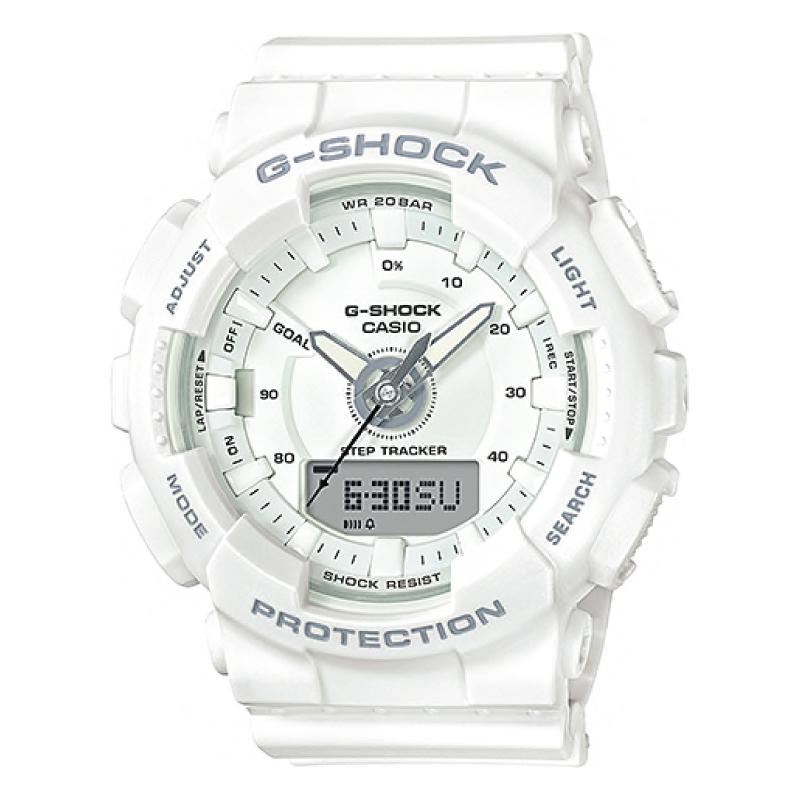 40798b6b5494 Casio G-Shock S Series For Women Step Tracker White Resin Band Watch  GMAS130-7A GMA-S130-7A