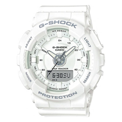 Casio G-Shock S Series For Women Step Tracker White Resin Band Watch GMAS130-7A GMA-S130-7A