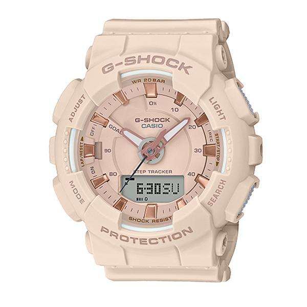 Casio G-Shock S Series For Women Step Tracker Beige Resin Band Watch GMAS130PA-4A GMA-S130PA-4A