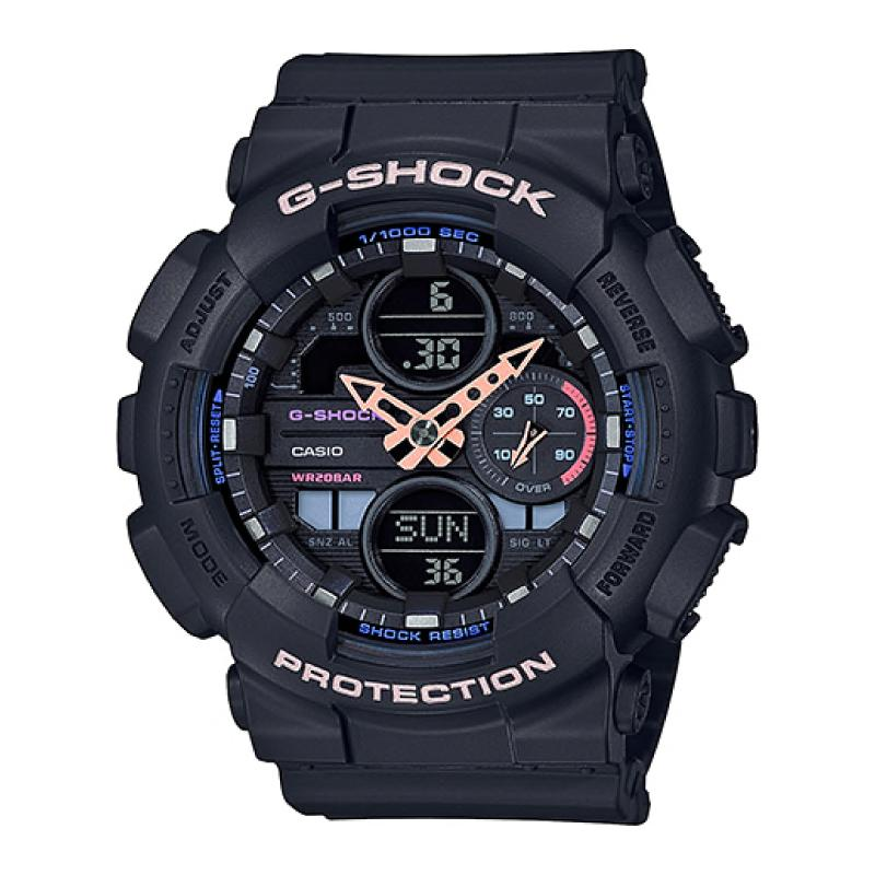 Casio G-Shock S Series GMA-S140 Lineup Black Resin Band Watch GMAS140-1A GMA-S140-1A