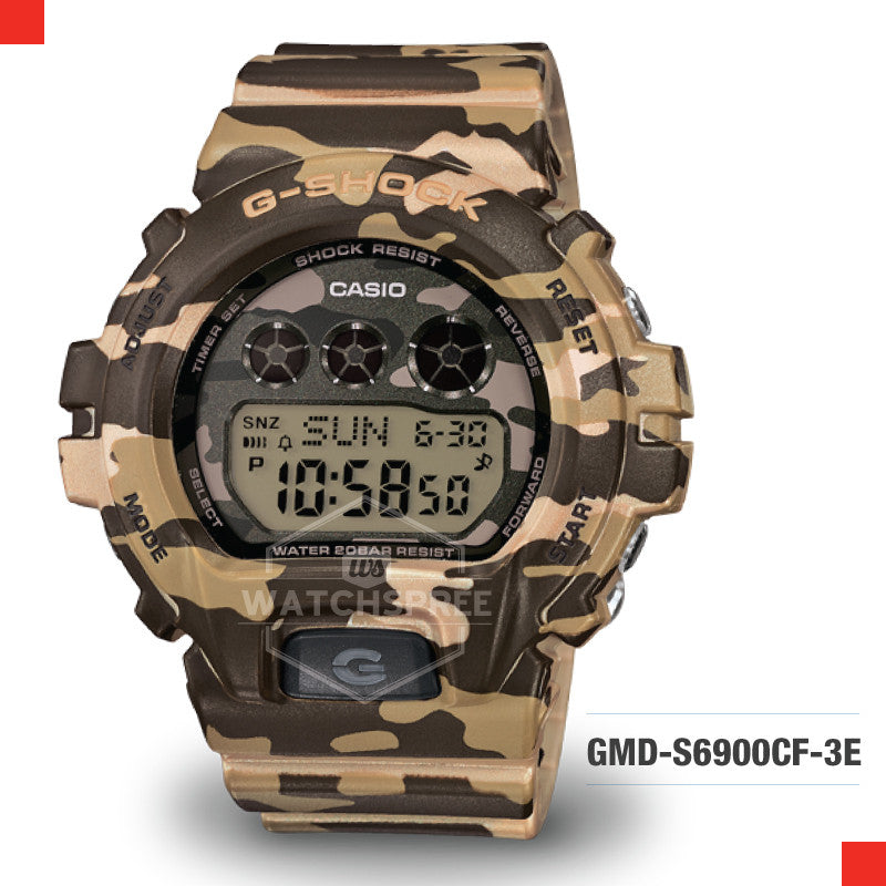 Casio G-Shock S Series Women Camouflage Watch GMDS6900CF-3D