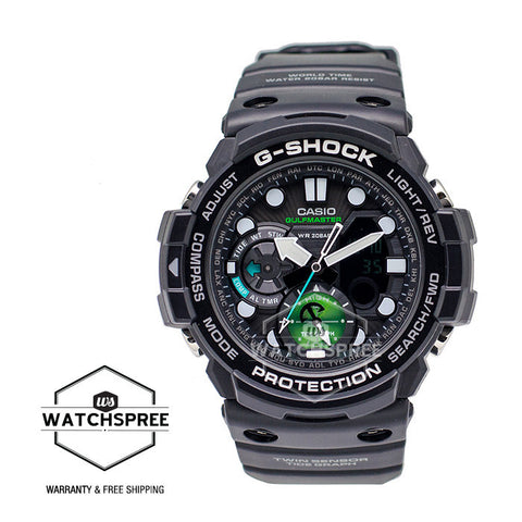 Casio G-Shock Gulfmaster MASTER Of G Series Master in Marine Blue Model Black Resin Band Watch GN1000MB-1A