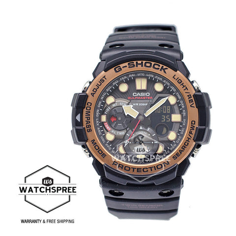Casio G-Shock New Master of G Gulfmaster Black Resin Band Watch GN1000RG-1A