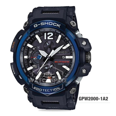 Casio G-Shock Gravitymaster GPS Hybrid Radio-controlled Solar-powered Black Resin Strap Watch GPW2000-1A2 GPW-2000-1A2