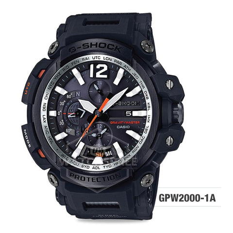 Casio G-Shock Gravitymaster GPS Hybrid Radio-controlled Solar-powered Black Resin Strap Watch GPW2000-1A GPW-2000-1A