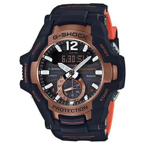 Casio G-Shock Gravitymaster with Bluetooth and Tough Solar Models Black Resin Band Watch GRB100-1A4 GR-B100-1A4