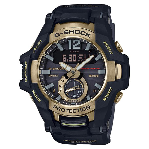 Casio G-Shock Gravitymaster with Bluetooth and Tough Solar Models Black Resin Band Watch GRB100GB-1A GR-B100GB-1A
