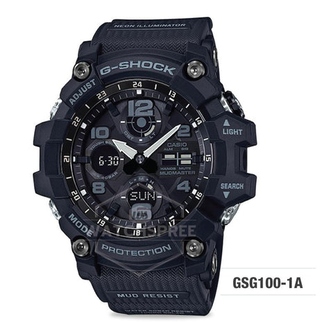 Casio G-Shock Master of G Series Mudmaster Black Resin Band Watch GSG100-1A GSG-100-1A