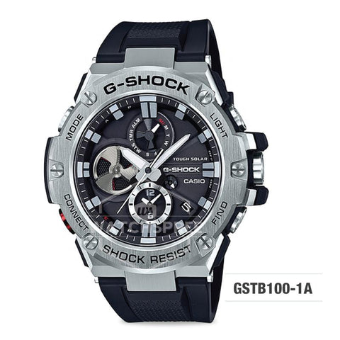 Casio G-Shock G-Steel GST-B100 Black Resin Band Watch GSTB100-1A GST-B100-1A