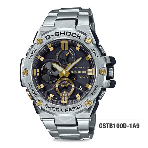 Casio G-Shock G-Steel GST-B100D Silver Stainless Steel Band Watch GSTB100D-1A9 GST-B100D-1A9