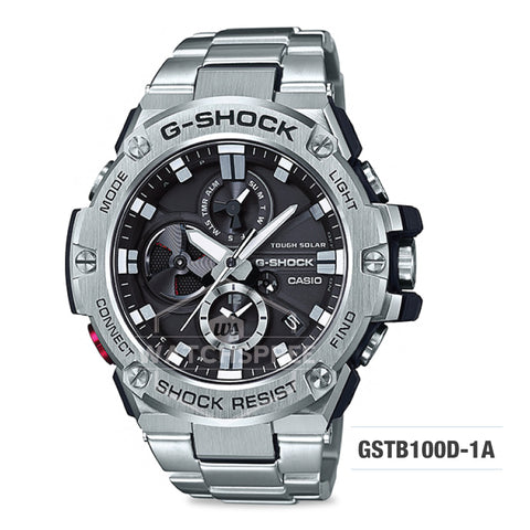 Casio G-Shock G-Steel Silver Stainless Steel Band Watch GSTB100D-1A
