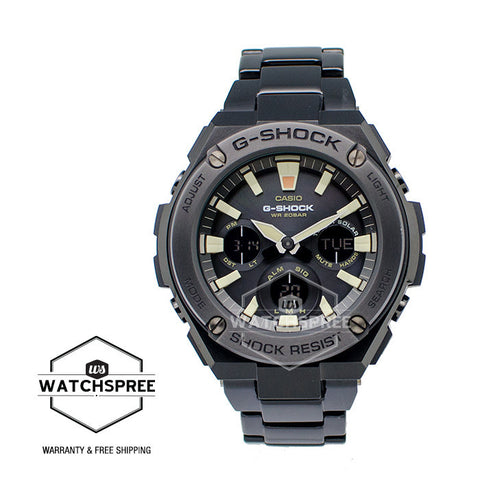 Casio G-Shock New G-STEEL Black IP Stainless Steel Band Watch GSTS130BD-1A