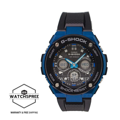 Casio G-Shock G-STEEL GST-S300G model Black Resin Band Watch GSTS300G-1A2