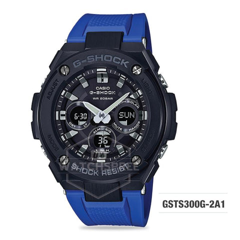 Casio G-Shock G-Steel Blue Resin Band Watch GSTS300G-2A1 GST-S300G-2A1