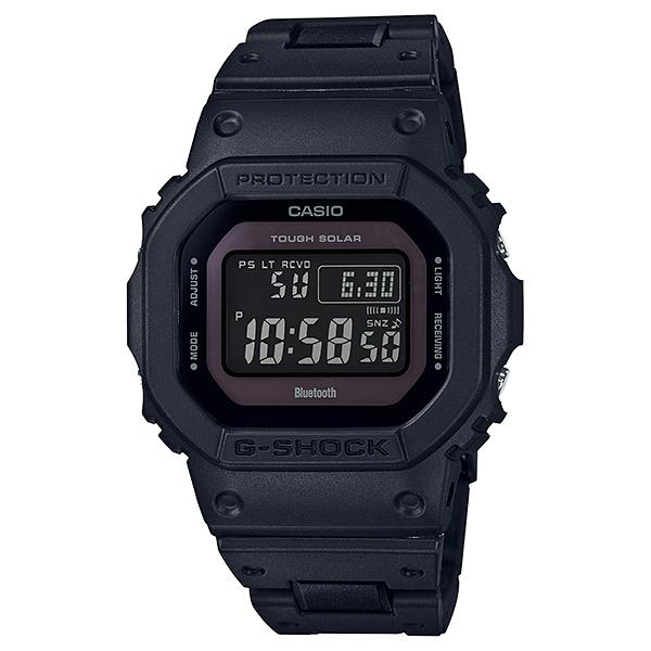 Casio G-Shock Bluetooth® Multi Band 6 Tough Solar Black Stainless Steel / Resin Composite Band Band Watch GWB5600BC-1B GW-B5600BC-1B