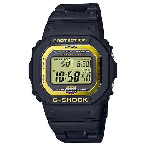 Casio G-Shock Bluetooth® Multi Band 6 Tough Solar Black Stainless Steel / Resin Composite Band Band Watch GWB5600BC-1D GW-B5600BC-1D GW-B5600BC-1