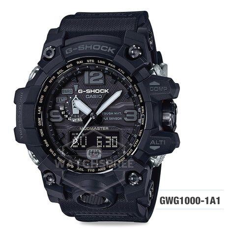 Casio G-Shock Master of G Series Mudmaster Black Resin Strap Watch GWG1000-1A1 GWG-1000-1A1