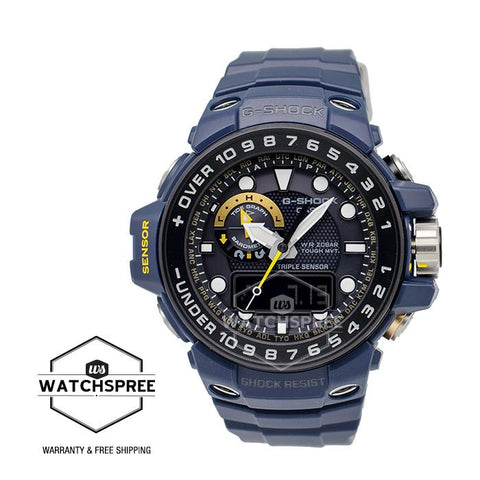 Casio G-Shock Master of G Gulfmaster Master in Navy Blue Series Navy Blue Resin / Stainless Steel Watch GWN1000NV-2A