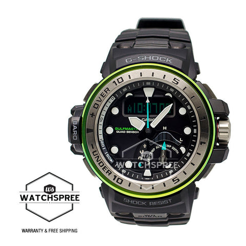 Casio G-Shock Gulfmaster MASTER Of G Series Marine Blue Models Black Resin Watch GWNQ1000MB-1A