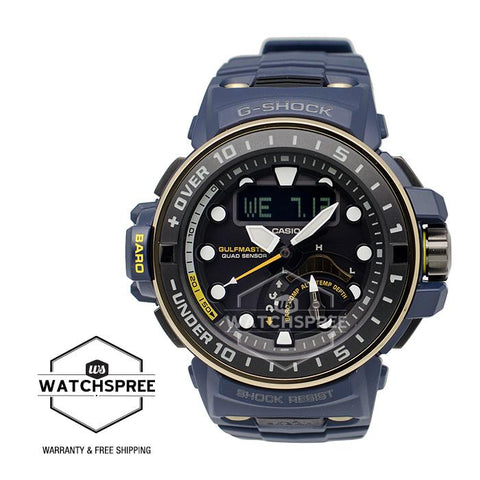 Casio G-Shock Master of G Gulfmaster Master of Navy Blue Series Resin/Stainless Steel Watch GWNQ1000NV-2A
