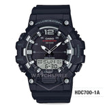 Casio Men's Analog-Digital Combination Black Resin Band Watch HDC700-1A HDC-700-1A