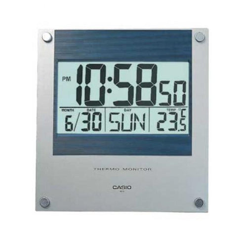 Casio Silver Resin Wall Clock ID11-2D ID11-2