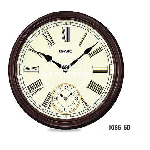 Casio Brown Wall Clock IQ65-5D