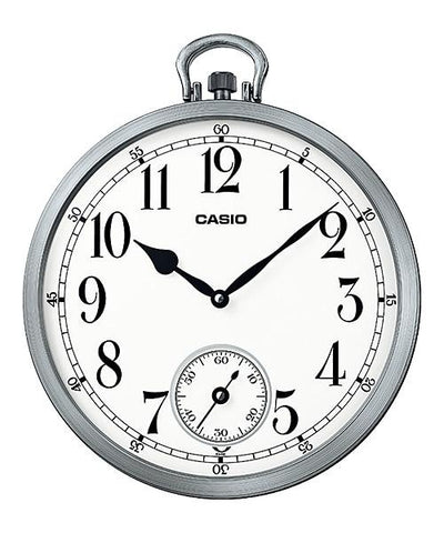 Casio Silver Resin Wall Clock IQ66-8D IQ66-8