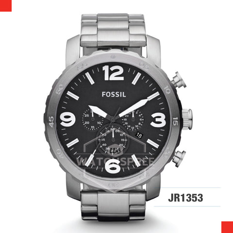 Fossil Men Nate Chronograph Stainless Steel Watch JR1353