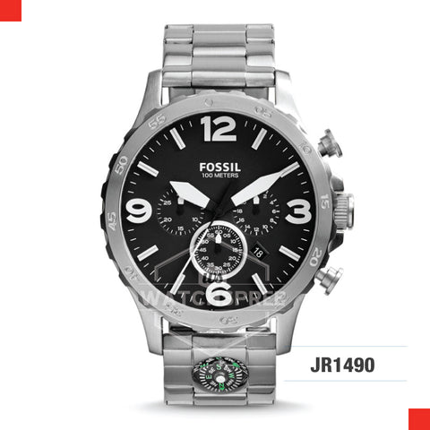 Fossil Men Nate Chronograph Stainless Steel Strap Watch JR1490