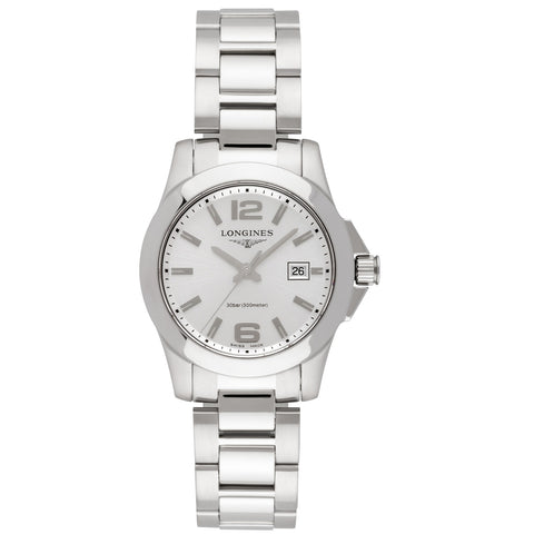 Longines Conquest Silver Dial Ladies 29.50 mm Watch L3.376.4.76.6