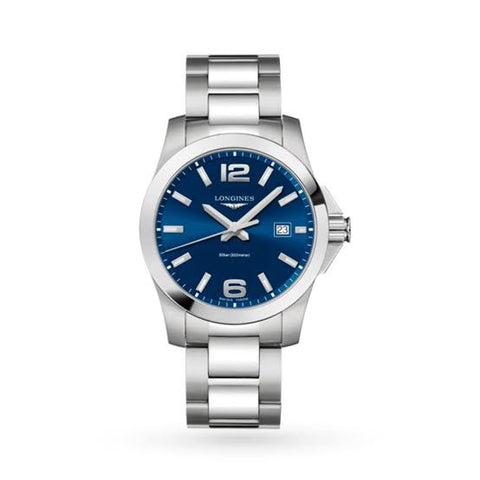 Longines Conquest Sunray Blue Dial 29.50 mm Ladies Watch L3.376.4.96.6