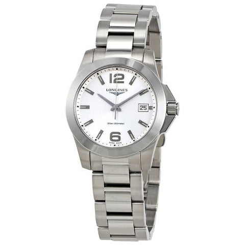 Longines Conquest Silver Dial Ladies 34 mm Watch L3.377.4.76.6