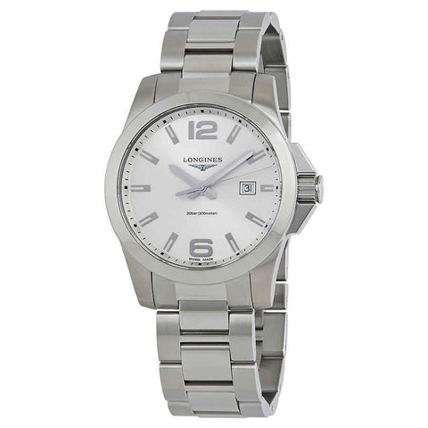 Longines Conquest Silver Dial Stainless Steel 43 mm Men's Watch L3.760.4.76.6